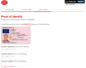 photo driving licence for identity registration basic payment scheme